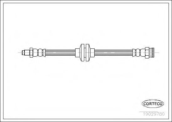Шланг тормозной CORTECO 19029780