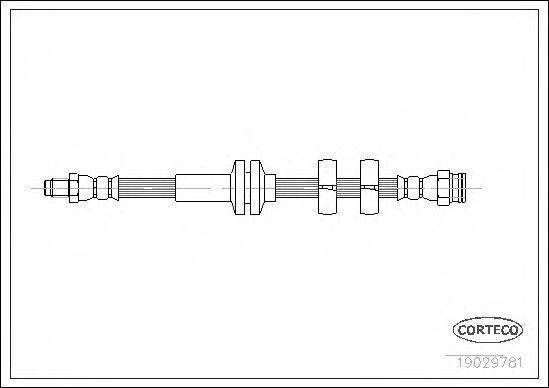 Шланг тормозной CORTECO 19029781