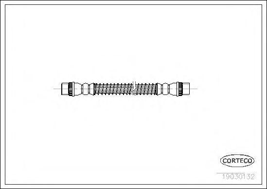 Шланг тормозной CORTECO 19030132