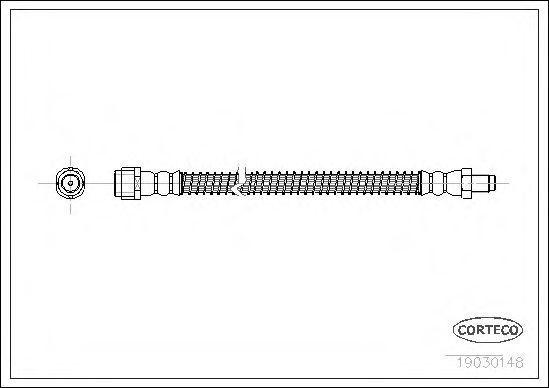 Шланг тормозной CORTECO 19030148