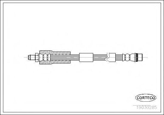Шланг тормозной CORTECO 19030285