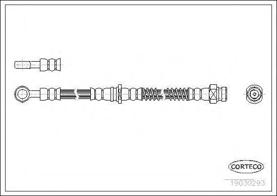 Шланг тормозной CORTECO 19030293