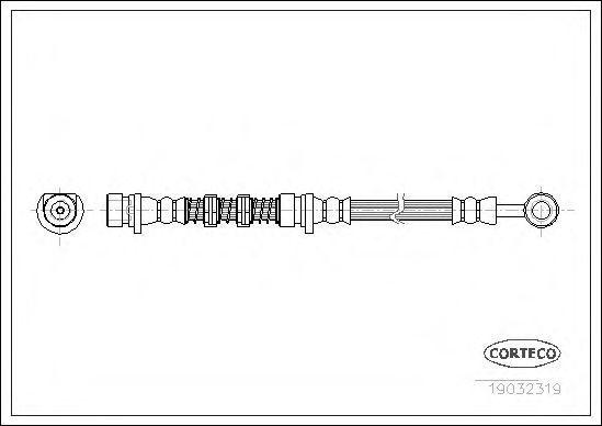 Шланг тормозной CORTECO 19032319