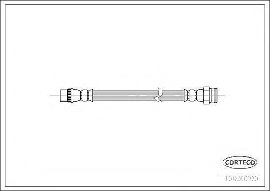 Шланг тормозной CORTECO 19030299