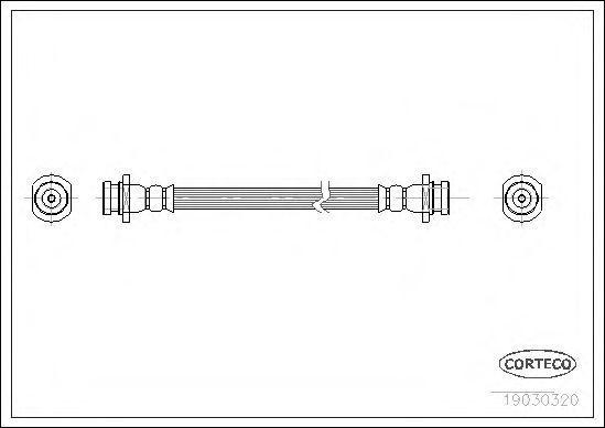 Шланг тормозной CORTECO 19030320