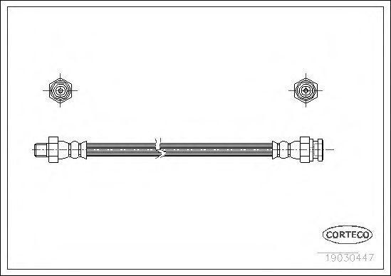 Шланг тормозной CORTECO 19030447