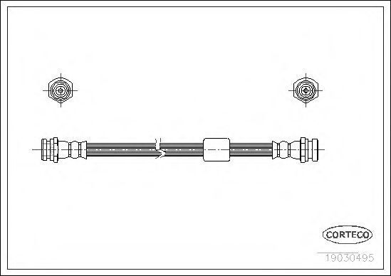 Шланг тормозной CORTECO 19030495