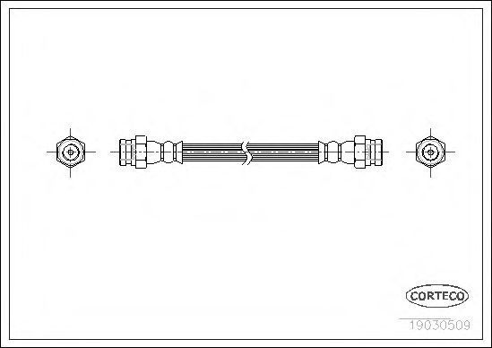 Тормозной шланг CORTECO 19030509