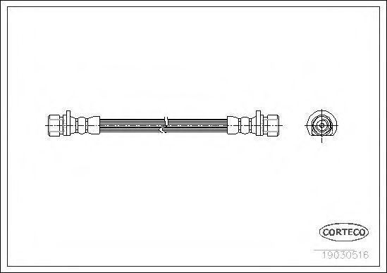 Шланг тормозной CORTECO 19030516