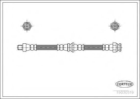 Тормозной шланг CORTECO 19030519