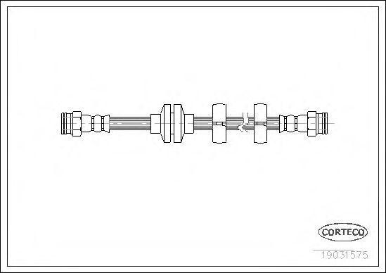 Шланг тормозной CORTECO 19031575