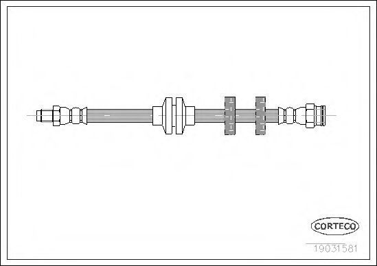 Шланг тормозной CORTECO 19031581