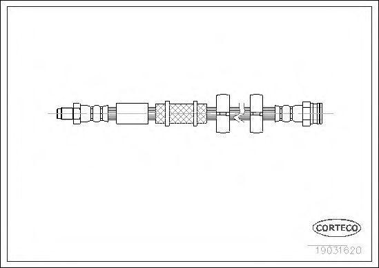 Шланг тормозной CORTECO 19031620