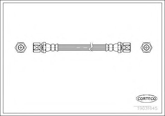 Шланг тормозной CORTECO 19031645