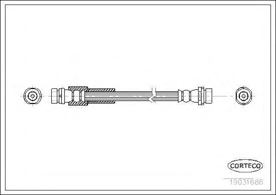 Шланг тормозной CORTECO 19031686