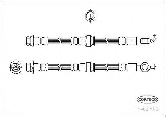 Шланг тормозной CORTECO 19032166