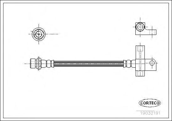 Шланг тормозной CORTECO 19032191