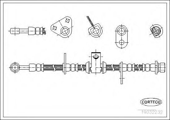 Шланг тормозной CORTECO 19032232