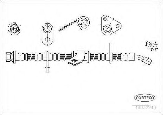 Шланг тормозной CORTECO 19032246