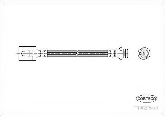 Шланг тормозной CORTECO 19032270