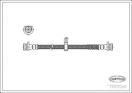 Шланг тормозной CORTECO 19032280
