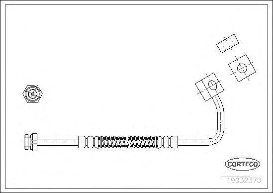 Шланг тормозной CORTECO 19032370
