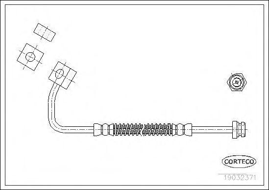 Шланг тормозной CORTECO 19032371