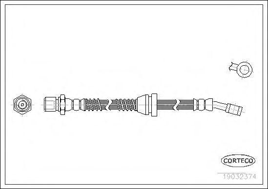 Шланг тормозной CORTECO 19032374