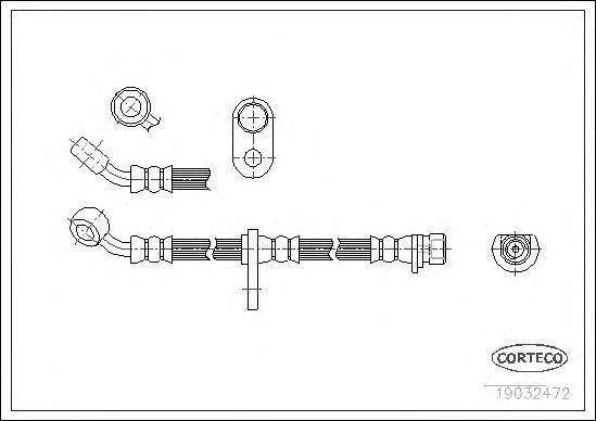Шланг тормозной CORTECO 19032472