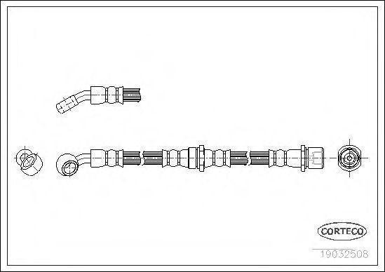 Шланг тормозной CORTECO 19032508