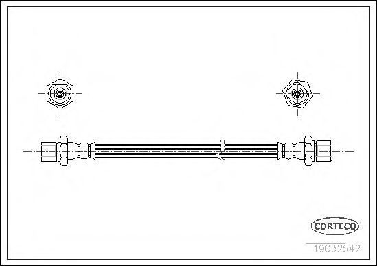 Шланг тормозной CORTECO 19032542