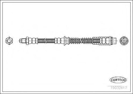 Шланг тормозной CORTECO 19032617