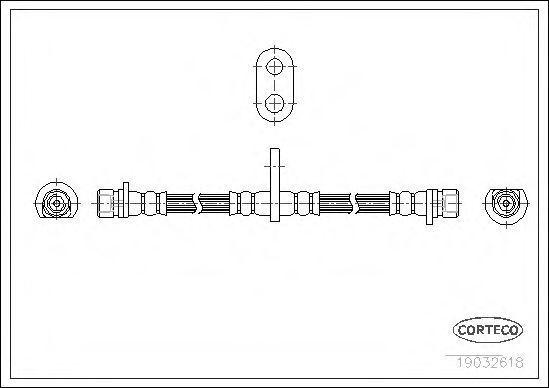 Шланг тормозной CORTECO 19032618
