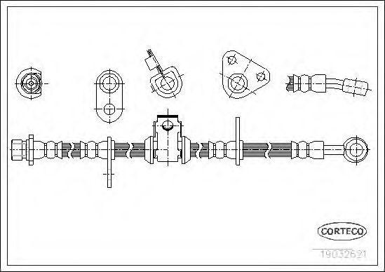 Шланг тормозной CORTECO 19032621