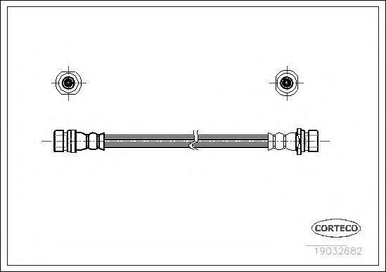 Шланг тормозной CORTECO 19032682