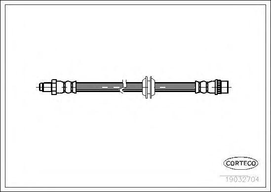 Шланг тормозной CORTECO 19032704