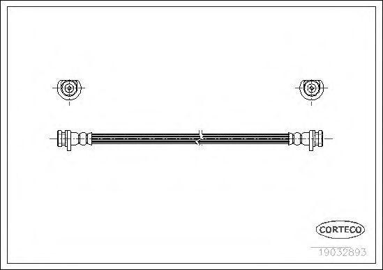 Шланг тормозной CORTECO 19032893