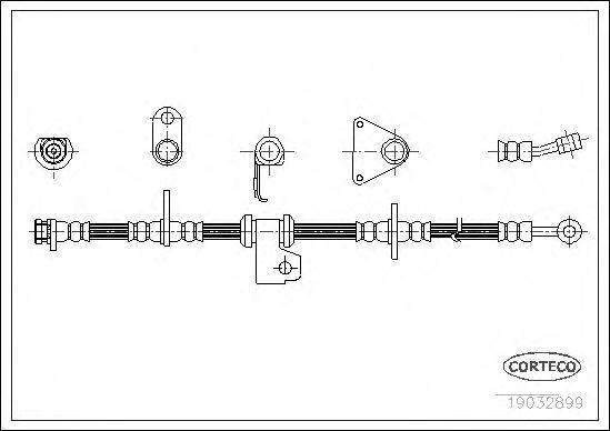 Шланг тормозной CORTECO 19032899