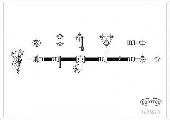 Шланг тормозной CORTECO 19032901