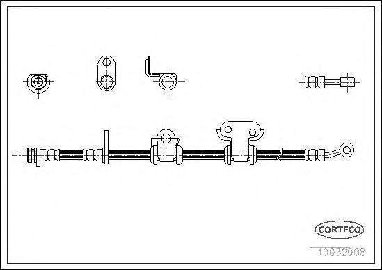 Шланг тормозной CORTECO 19032908