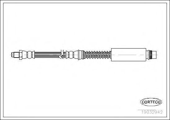 Шланг тормозной CORTECO 19032942
