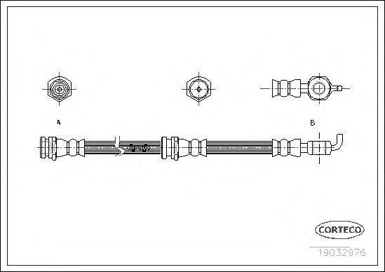 Шланг тормозной CORTECO 19032976