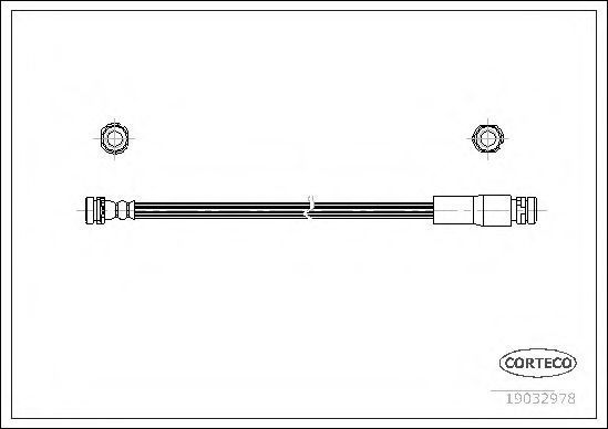 Шланг тормозной CORTECO 19032978