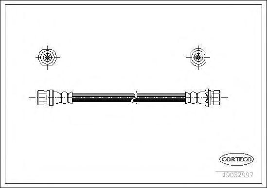 Шланг тормозной CORTECO 19032997