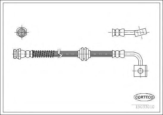 Шланг тормозной CORTECO 19033010