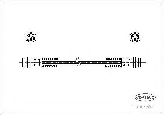 Шланг тормозной CORTECO 19033012