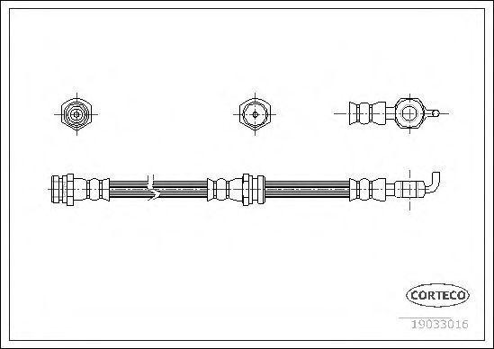 Шланг тормозной CORTECO 19033016
