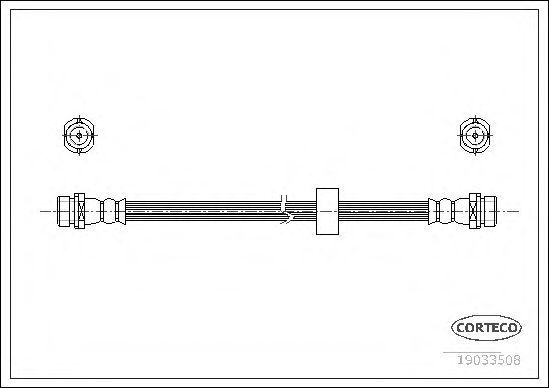 Шланг тормозной CORTECO 19033508