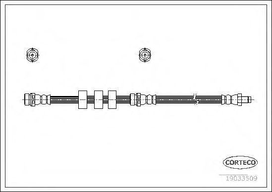 Шланг тормозной CORTECO 19033509
