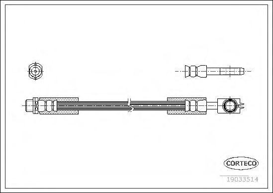 Шланг тормозной CORTECO 19033514